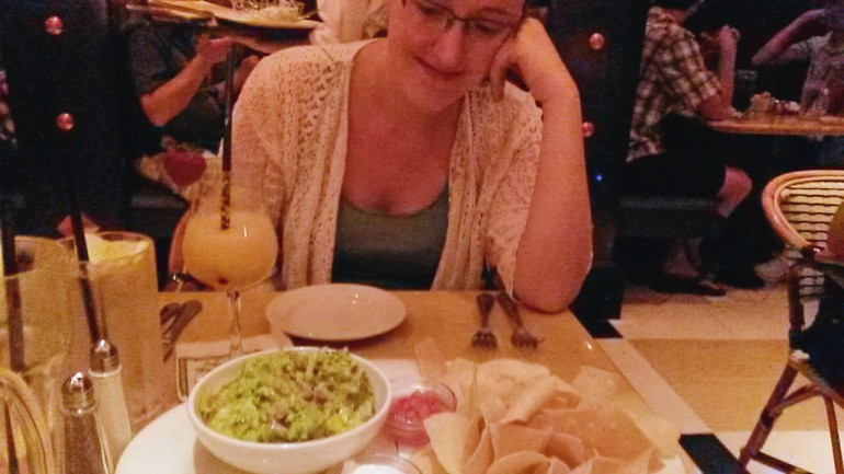 We ordered Guac, of course...