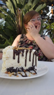 "She was expecting a ""slice"" of cake. Not a slab."